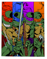 TMNT FLATS by JHTriune