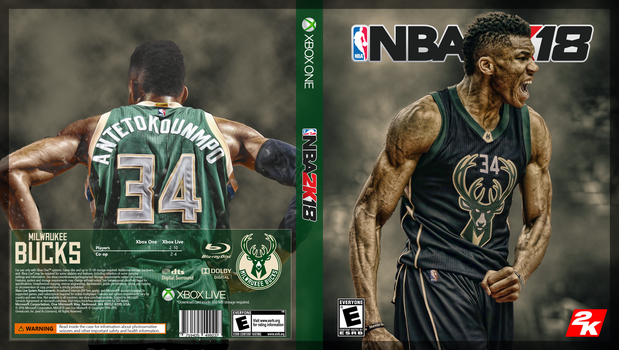NBA2k18 for Xbox featuring Giannis Antetokounmpo by nickrhea
