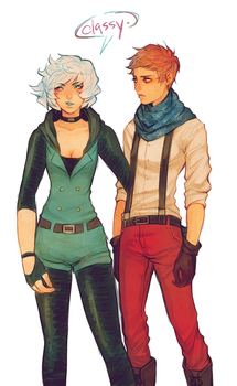 hilda and evan by snowy-town