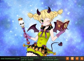 Anime Halloween Magical girl by Rinmaru