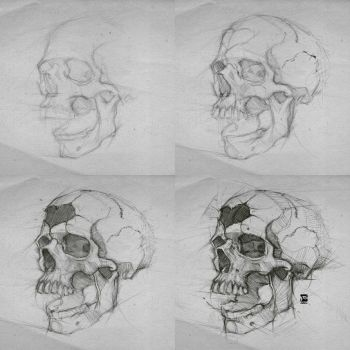 20170821 Skull Steps Process Psdelux by psdeluxe
