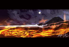 Lava speed painting 1 by Bryan-Lobdell