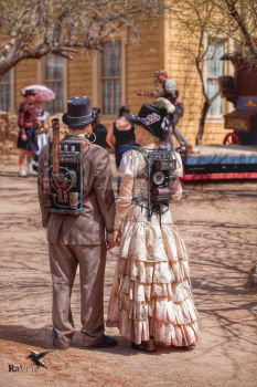 Steampunk WWWC4  the Town Square by PhotosbyRaVen
