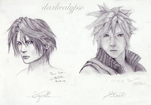 Squall And Cloud by darkcalypso