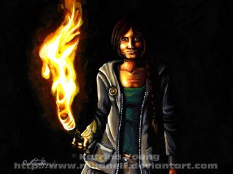 The Girl Who Was On Fire by RohanElf