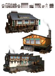rpg home town buildings by thatnickid
