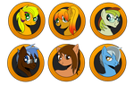 Brony Badge set 6 by DBurch01