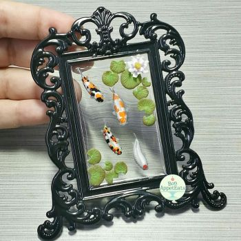 Koi Pond Picture Frame, Version 1 by Bon-AppetEats