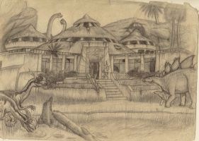 Jurassic Park Visitor Center by SpinoJP
