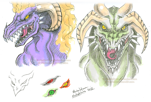 Some Dragon Sketches by MaXedCats