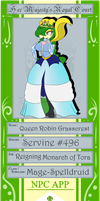 Her Royal Highness: Queen Robin Grasscrest by DreamingMystic