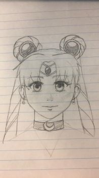 Sailor Moon - sketch/WIP by yuzudove
