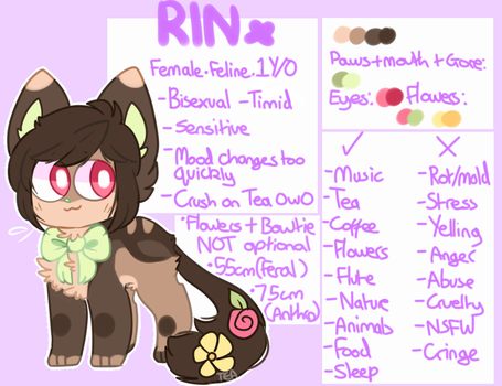 Rin 2018 ref sheet! (20/4/2018) by Puppiii