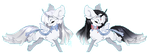 [Pixel] Summer and Winter by sordid-dessert