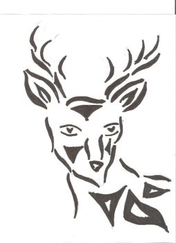 Deer tattoo by gothicwolf4life