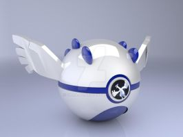 Lugia pokeball by Sara-A2