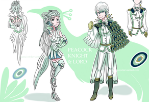 (CLOSED) Peacock Knight and Lord Adopts by Usa-mero