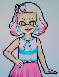 Pearl in cute clothes by WhyIamaPotato