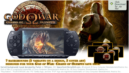 GoW: CoO Save Data Backgrounds by spacecow4
