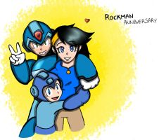 RQ-Anniversary Rockman by RoseBereArtist