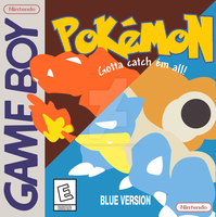 Minimalist Red and Blue Box Art by joey-and-rattata