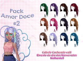 Pack Amor Doce - Cabelo Cacheado edit #2 by KagomeChan0