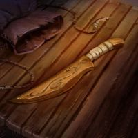 Wooden Dagger by pinkhavok