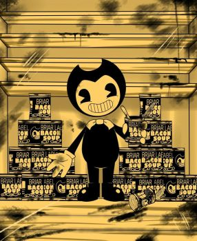 Bendy and the bacon soup by Raphaela-jm