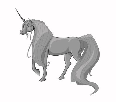 Unicorn Line Art - FREE by jennyleigh