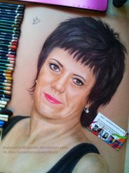 Commission - Woman with short hair by AnastasiyaKosenko