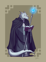Dragonborn Mage by Blazbaros