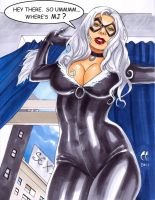Black Cat Looking for MJ by daikkenaurora