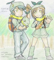 Turtwig Scouts by 13671Onin