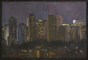 nocturnal cityscape by tamino