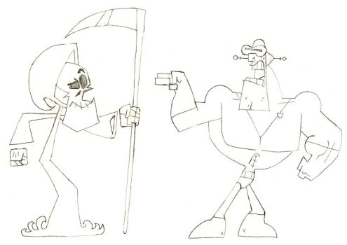 the grim reaper vs tuddrussel by McCabe00