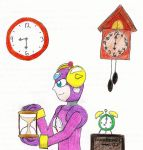 Timeman and his clocks by Guadisaves02