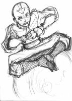 Avatar sketch - Aang by eisu