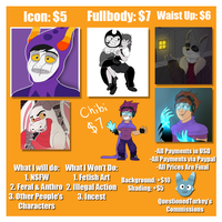 Commissions Open! Prices and Information by VodkaWarrior