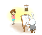 girl and bunny? i don't know their name yet by wishes0007
