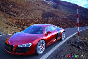 Audi R8 Iray Road Car Still by RamonGuthrie