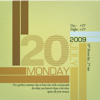 20 JULY 2009 by typoholics