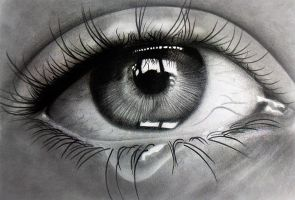Crying eye! Pencils on paper by f-a-d-i-l