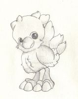 Baby chocobo by ffraise