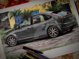 Ford Focus drawing by DSPA360