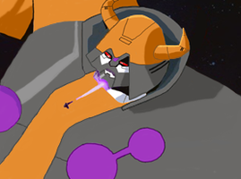 Galvatron attacks Unicron by du365