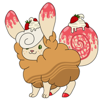 [Custom Gift] Flufferbun - Strawberry Cheesecake by SammichPup