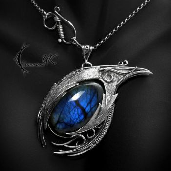 ISDNHAR DRACO - silver and labradorite by LUNARIEEN