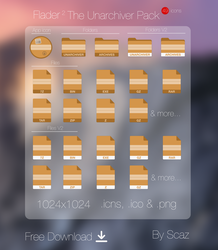 The Unarchiver Pack (icon, folders, files) by scafer31000