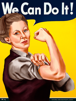 General Leia WE CAN DO IT by inicka