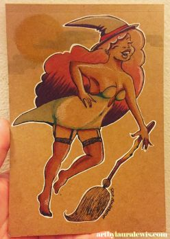 Dancing Witch by artbylauralewis